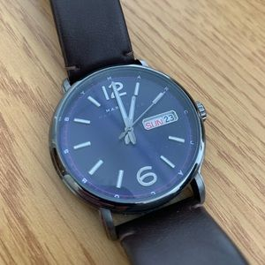 Marc by Marc Jacob Leather Strap Watch